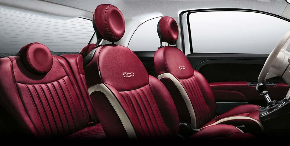 fiat 500c interior seating
