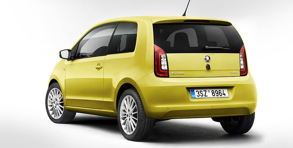 Yellow Skoda Citigo car image
