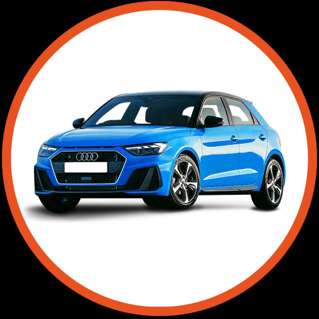 Blue Audi car image