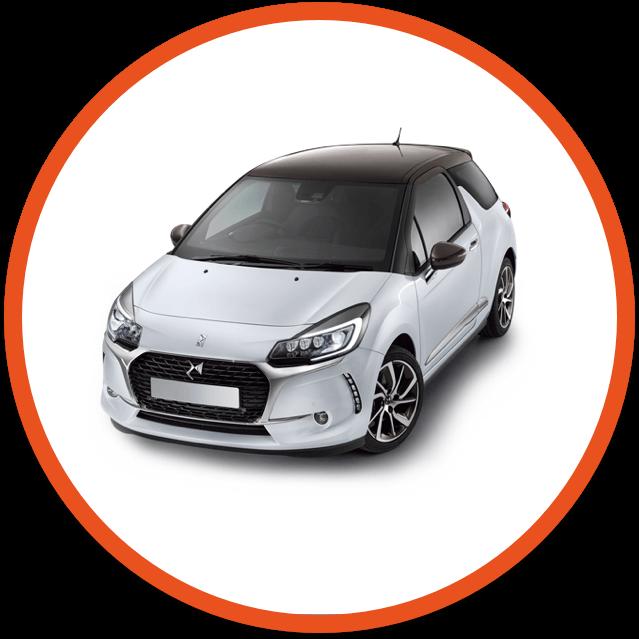 DS white car image
