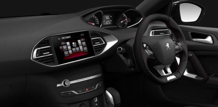 interior design of Peugeot 308 car image