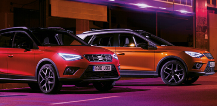 Seat Arona two parked cars image
