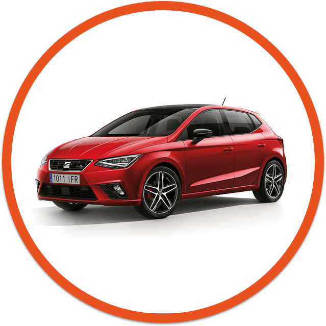 Seat ibiza red car image