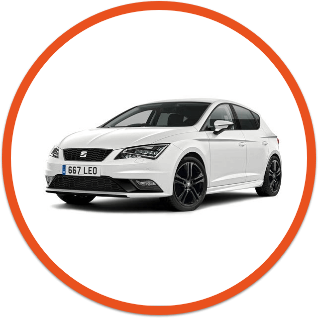White  Seat Leon car image