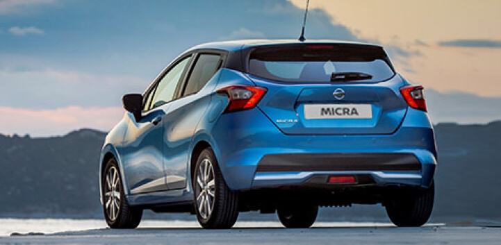 Nissan Micra car driving image