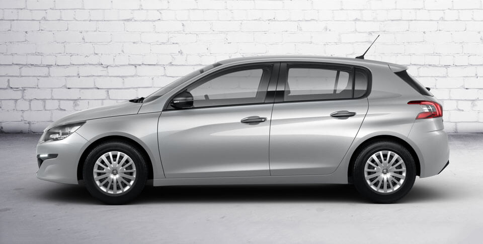 Side view of Peugeot 308 car image