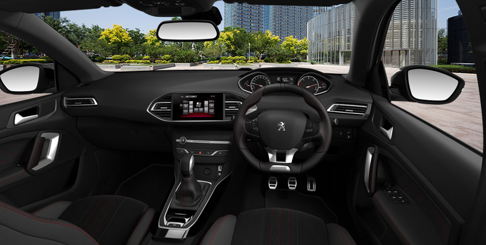Interior view of the Peugeot 308 car image