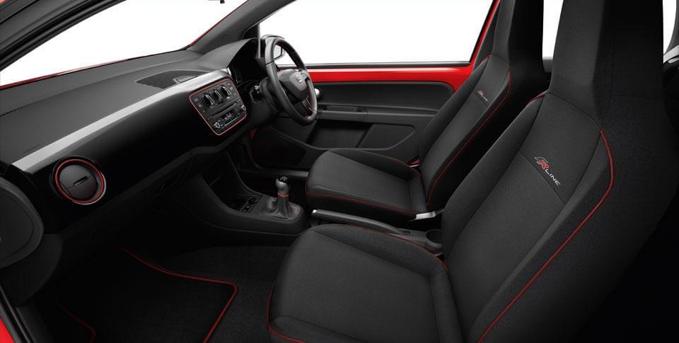 Detail of interior of Seat Mii car image