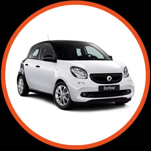White Smart car image