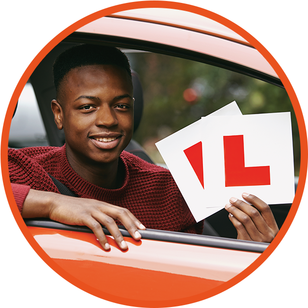 teen boy learner driver