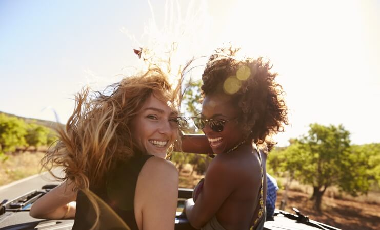 Friends driving image