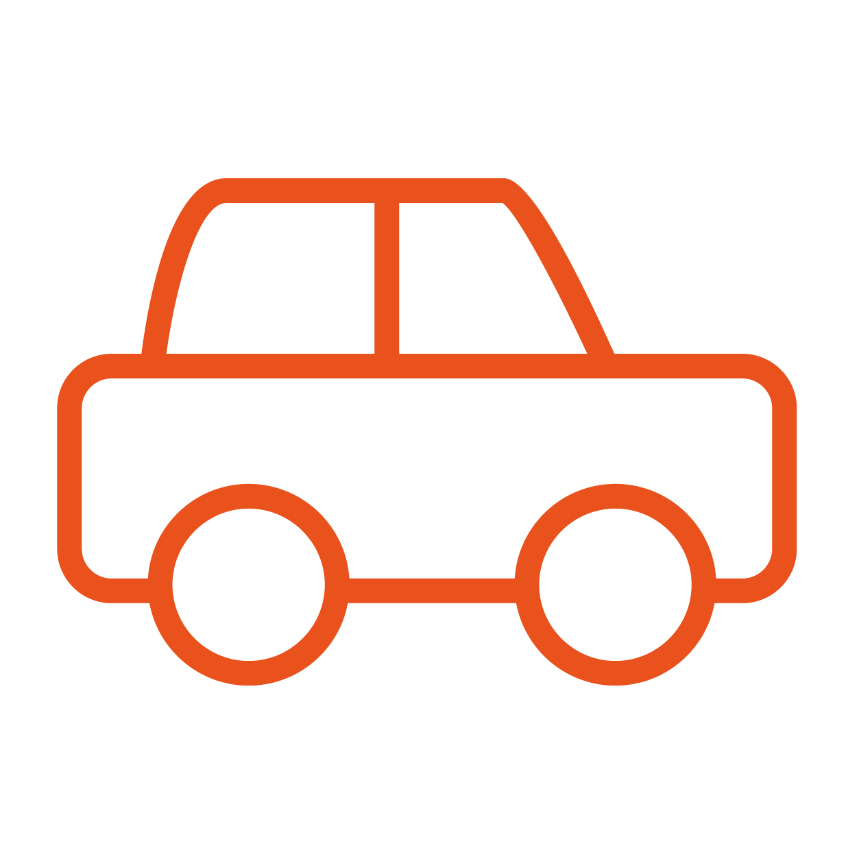 Line icon of car