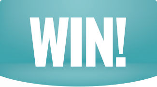 Win on teal background