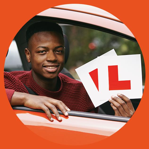 teen boy learner driver