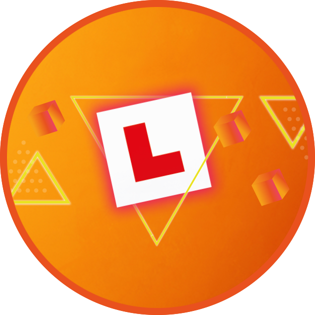L PLate on Retro background