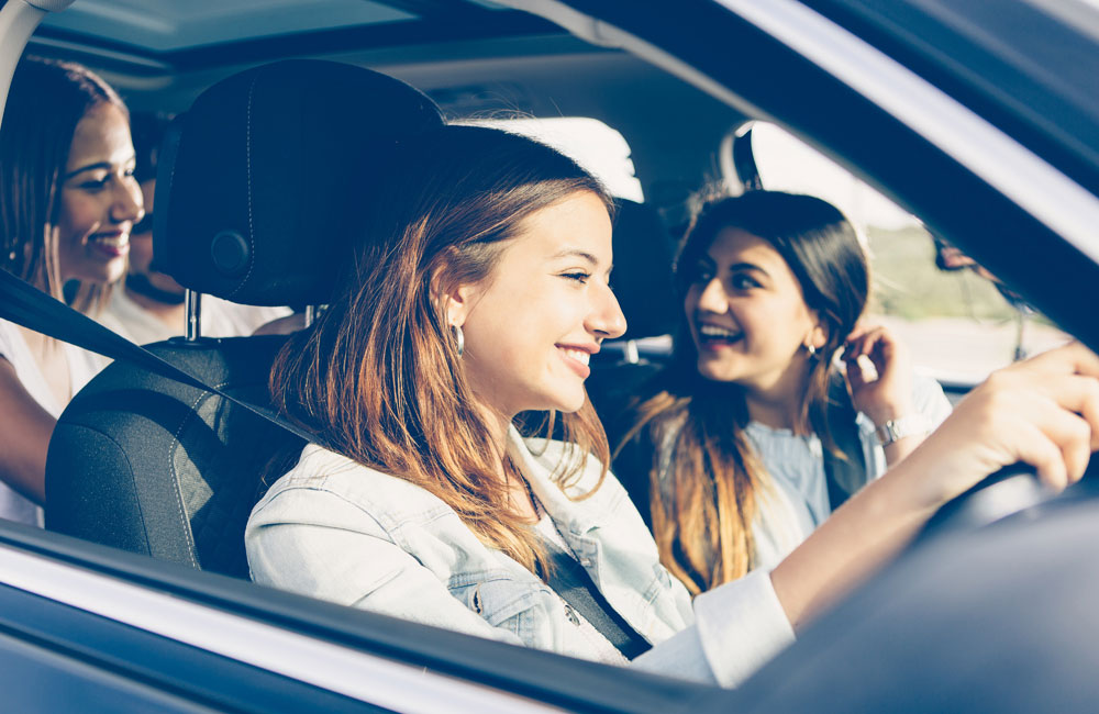 girls in car driving