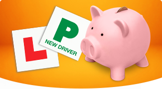Piggy bank and L plates