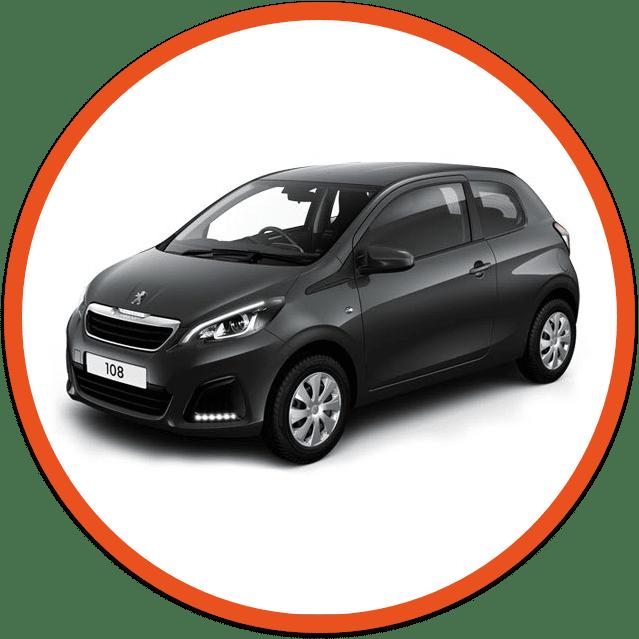 Black Peugeot 108 car image