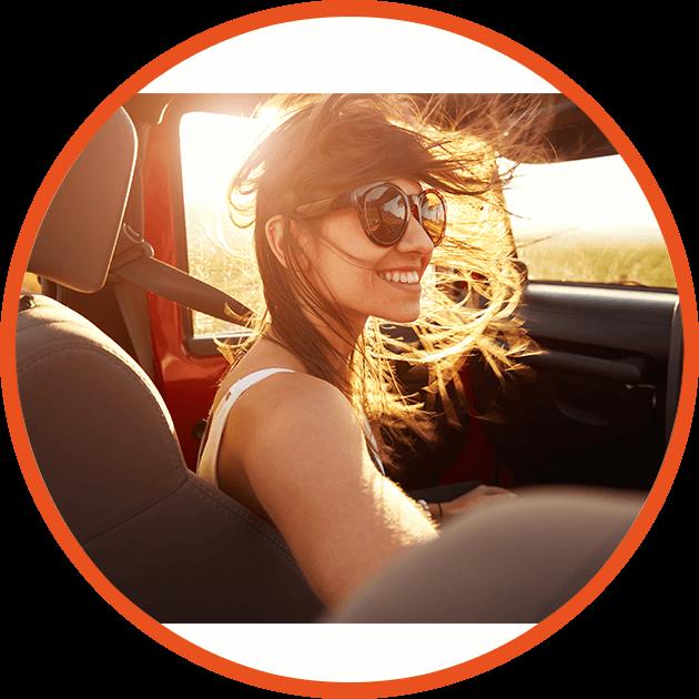 girl in passenger seat