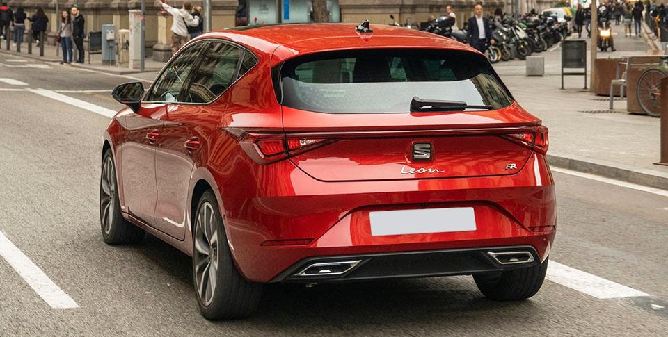 Red seat leon car