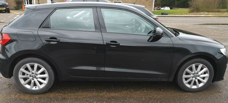 Audi A1 side view