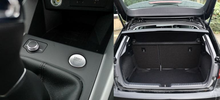 Audi A1 start and boot