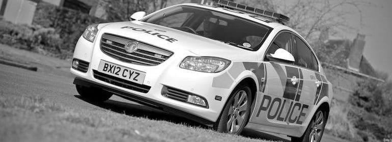 B&W Police car