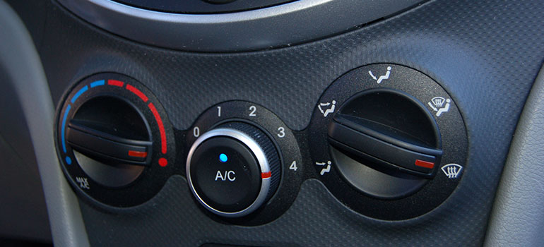 heating controls in car
